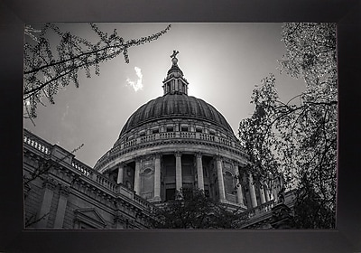 East Urban Home 'Under the Dome' Photographic Print; Black Wood Large Framed Paper