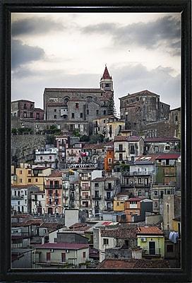 East Urban Home 'Vertical' Photographic Print; Black Metal Flat Framed Paper