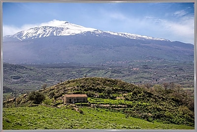 East Urban Home 'Quiet Mount Etna' Photographic Print; White Metal Framed Paper