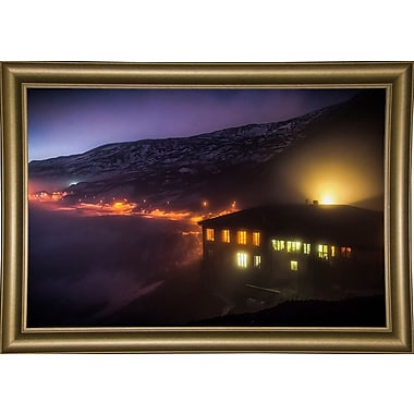 East Urban Home 'Under the Cloud' Photographic Print; Bistro Gold Framed Paper