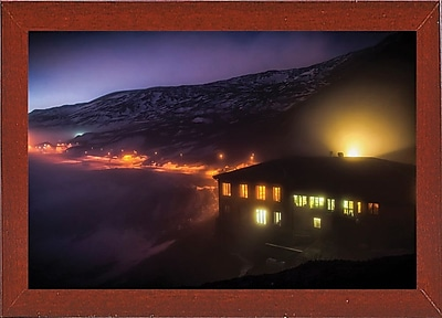 East Urban Home 'Under the Cloud' Photographic Print; Red Mahogany Wood Medium Framed Paper