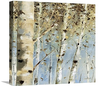 East Urban Home 'White Forest IV' Print on Canvas; 24'' H x 24'' W