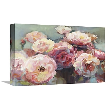 East Urban Home 'Wild Roses' Print on Canvas; 12'' H x 18'' W