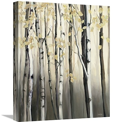 East Urban Home 'Golden Birch II' Print on Canvas; 35'' H x 28'' W