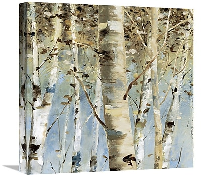 East Urban Home 'White Forest III' Print on Canvas; 30'' H x 30'' W