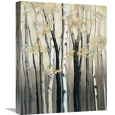 East Urban Home 'Golden Birch I' Print on Canvas; 20'' H x 16'' W