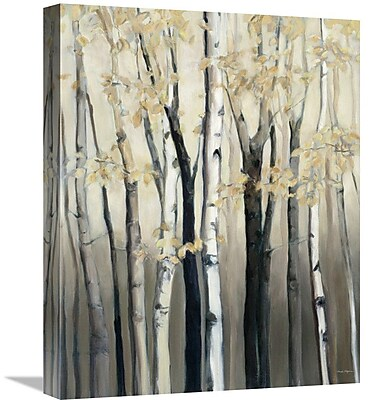 East Urban Home 'Golden Birch I' Print on Canvas; 28'' H x 22'' W