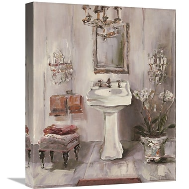 East Urban Home 'French Bath III Gray and Blush' Print on Canvas; 35'' H x 28'' W
