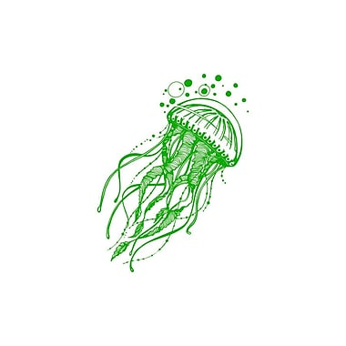 Decal House Jellyfish Bathroom Wall Decal; Lime Tree Green