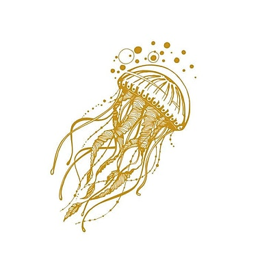 Decal House Jellyfish Bathroom Wall Decal; Gold