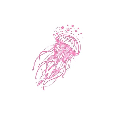 Decal House Jellyfish Bathroom Wall Decal; Soft Pink