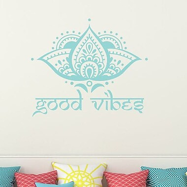 Decal House Lotus Good Vibes Wall Decal; Mint