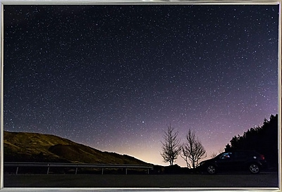 Charlton Home 'Starry Night' Photographic Print; Silver Metal Framed Paper