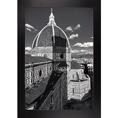 Ebern Designs 'Brunelleschi's Work' Photographic Print; Black Wood Large Framed Paper