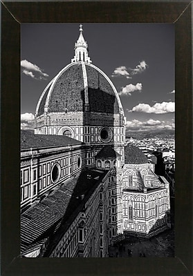 Ebern Designs 'Brunelleschi's Work' Photographic Print; Brazilian Walnut Wood Medium Framed Paper