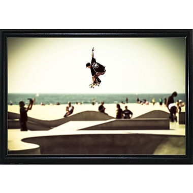 Ebern Designs 'The Great Jump' Photographic Print; Black Metal Flat Framed Paper