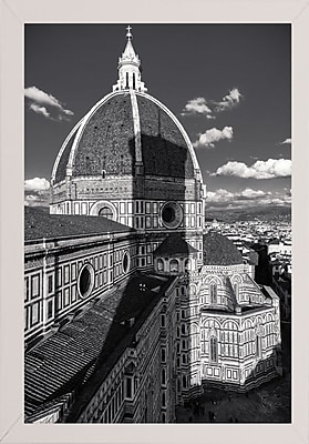 Ebern Designs 'Brunelleschi's Work' Photographic Print; White Wood Medium Framed Paper