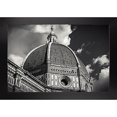 Ebern Designs 'The Big Dome' Photographic Print; Black Wood Large Framed Paper