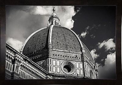 Ebern Designs 'The Big Dome' Photographic Print; Black Wood Medium Framed Paper