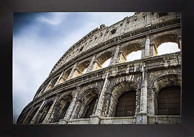 Ebern Designs 'Colosseo' Photographic Print; Black Wood Large Framed Paper