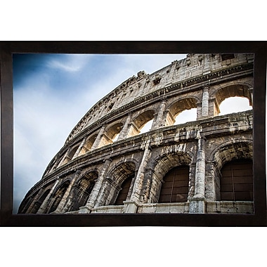 Ebern Designs 'Colosseo' Photographic Print; Cafe Espresso Wood Framed Paper