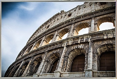 Ebern Designs 'Colosseo' Photographic Print; Silver Metal Framed Paper