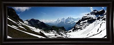 Ebern Designs 'Panorama Switzerland' Photographic Print; Bistro Expresso Framed Paper