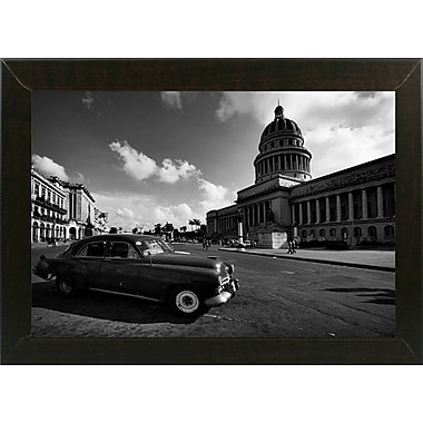 Ebern Designs 'Old Car Black and White' Photographic Print