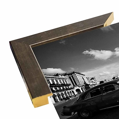 Ebern Designs 'Old Car Black and White' Photographic Print; Rolled Canvas