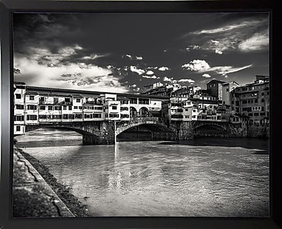 Ebern Designs 'Letters From Florence 1' Photographic Print; Black Plastic Framed Paper