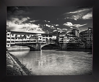 Ebern Designs 'Letters From Florence 1' Photographic Print; Black Wood Large Framed Paper