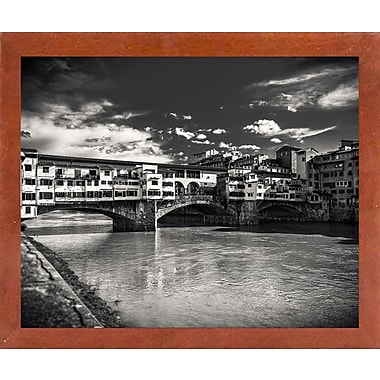 Ebern Designs 'Letters From Florence 1' Photographic Print; Canadian Walnut Wood Medium Framed Paper
