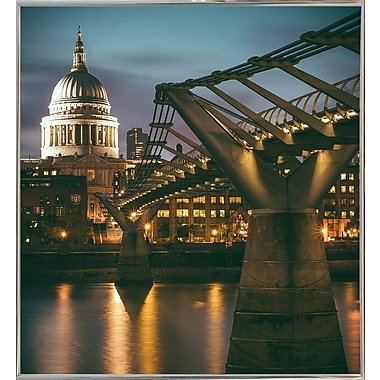 Ebern Designs 'The Dome' Photographic Print; Silver Metal Framed Paper