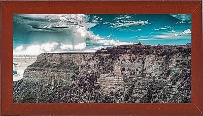 East Urban Home 'My New Sunglasses' Photographic Print; Red Mahogany Wood Medium Framed Paper
