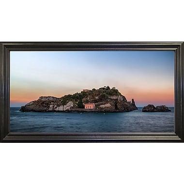 East Urban Home 'Lachea Island' Photographic Print; Black Wood Grande Framed Paper