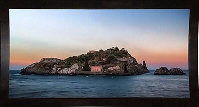 East Urban Home 'Lachea Island' Photographic Print; Black Wood Medium Framed Paper