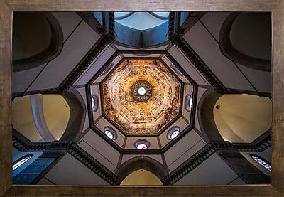 East Urban Home 'Under the Brunelleschi's Dome' Photographic Print; Cafe Mocha Framed Paper