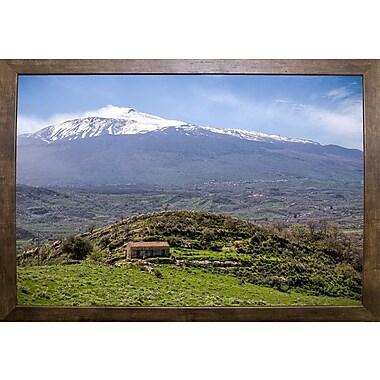 East Urban Home 'Quiet Mount Etna' Photographic Print; Cafe Mocha Framed Paper