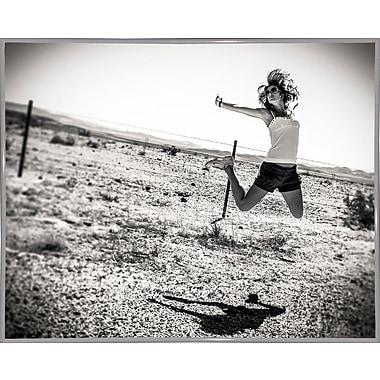 East Urban Home 'Music Over the Desert' Photographic Print; White Metal Framed Paper