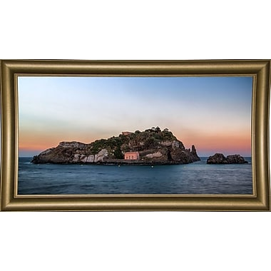 East Urban Home 'Lachea Island' Photographic Print; Bistro Gold Framed Paper