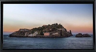 East Urban Home 'Lachea Island' Photographic Print; Black Metal Framed Paper