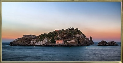 East Urban Home 'Lachea Island' Photographic Print; Gold Metal Framed Paper