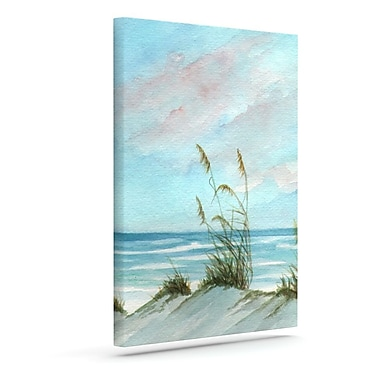 Highland Dunes 'Sea Oats' Painting Print on Wrapped Canvas; 10'' H x 8'' W x 2'' D