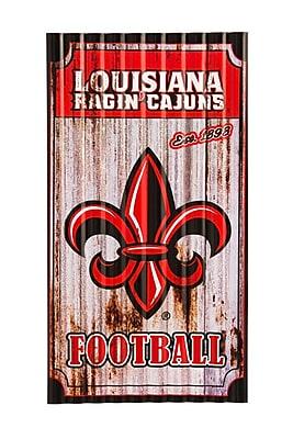 Team Sports America NCAA Corrugated Graphic Art Print on Metal; Louisiana Lafayette