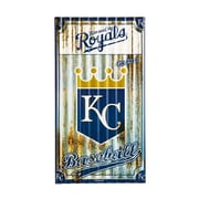Team Sports America MLB Corrugated Graphic Art Print on Metal; Kansas City Royals