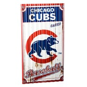 Team Sports America MLB Corrugated Graphic Art Print on Metal; Chicago Cubs