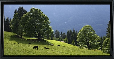 Winston Porter 'Green Mountainscape Cropped' Photographic Print; Black Metal Framed Paper