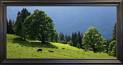 Winston Porter 'Green Mountainscape Cropped' Photographic Print; Rolled Canvas