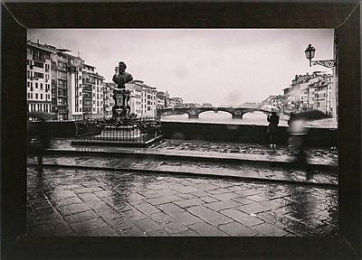 Winston Porter 'It's Raining' Photographic Print; Brazilian Walnut Wood Medium Framed Paper