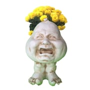 HomeStyles Muggly The Face Crying Brother Statue Planter; Antique White